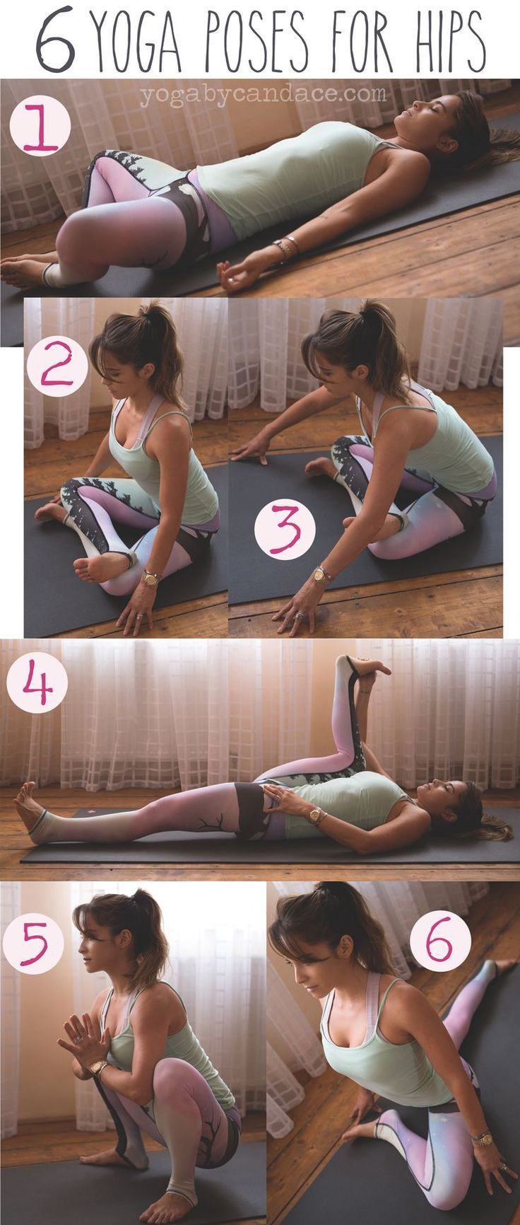 6 Yoga Poses for Tight Hips by popsugar #Yoga #Hip_Openers #namastenationyoga #y...