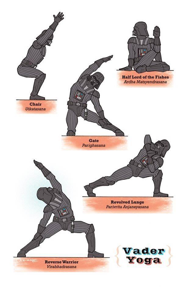Darth Vader Does Yoga: 27 Awesome Star Wars Yoga Poses bookretreats.com/...