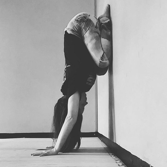 Restoratives up the wall! Child's pose with awesome inversion benefits…