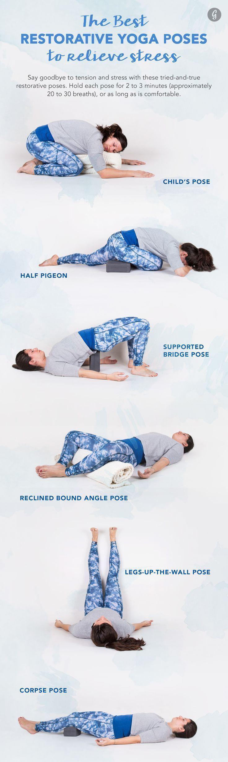 The Best Restorative Yoga Poses #stress #relief #yoga