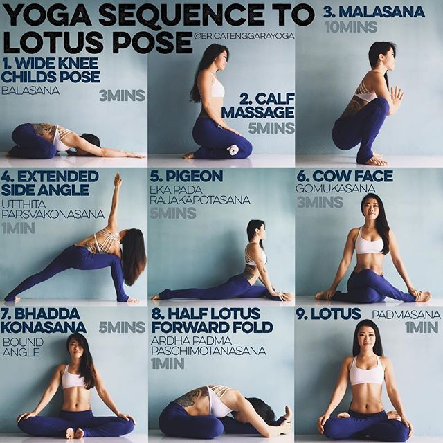 YOGA SEQUENCE TO LOTUS POSE: I tore my ACL in 2009, got it reconstructed & lotus...