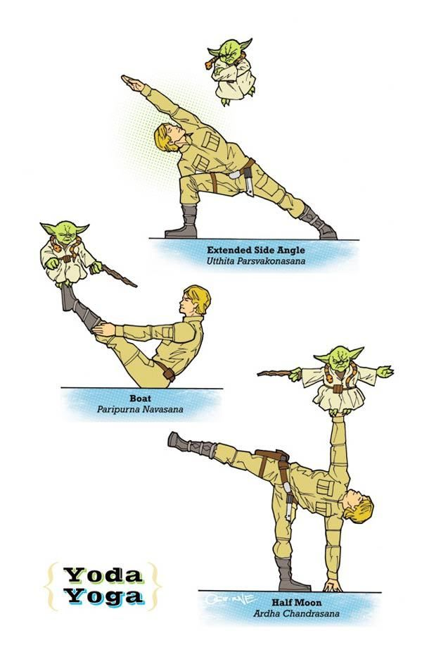 Yoda Yoga: 27 Star Wars Poses By Your Favorite Characters at bookretreats.com/.....