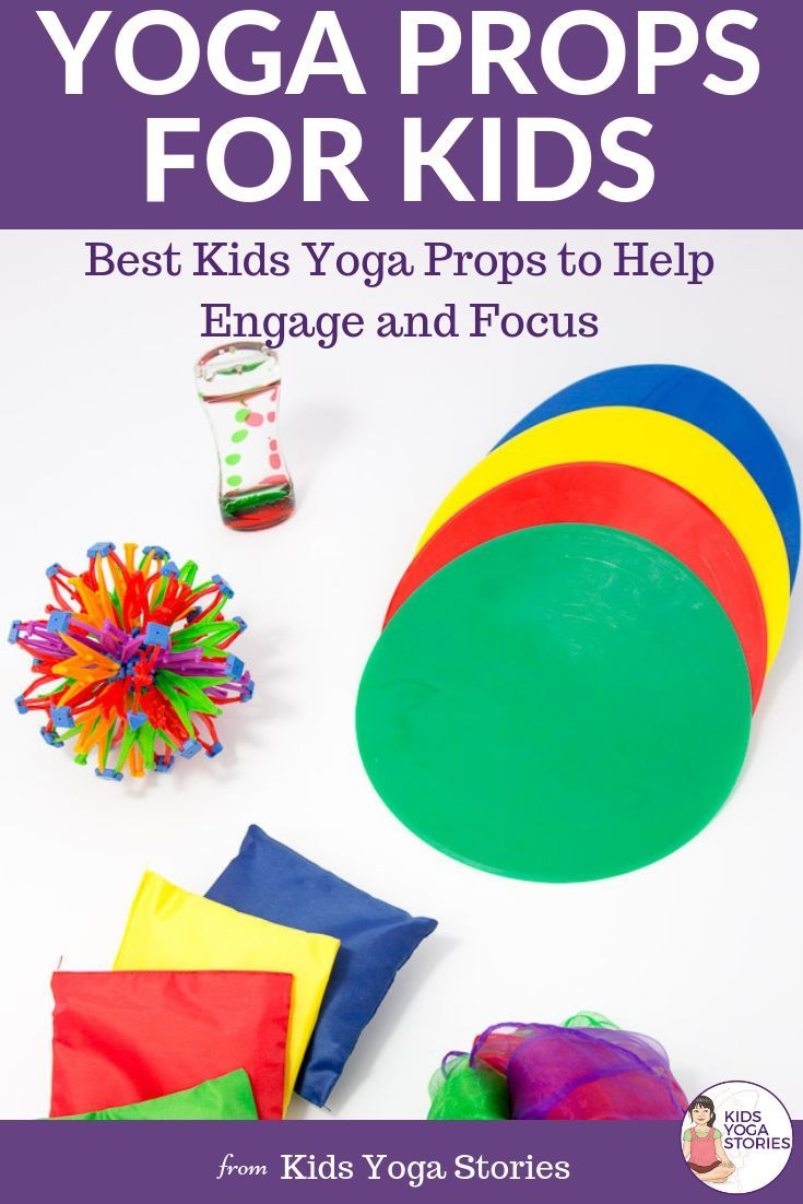 YOGA PROP IDEAS FOR KIDS! And stuff you probably have at home or in the classroo...