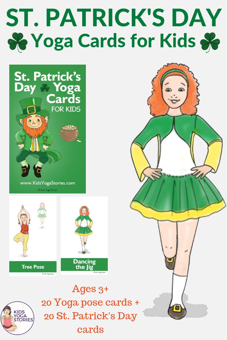 CELEBRATE ST. PATRICK'S DAY THROUGH YOGA MOVES FOR KIDS! Pretend to be a sheep, ...