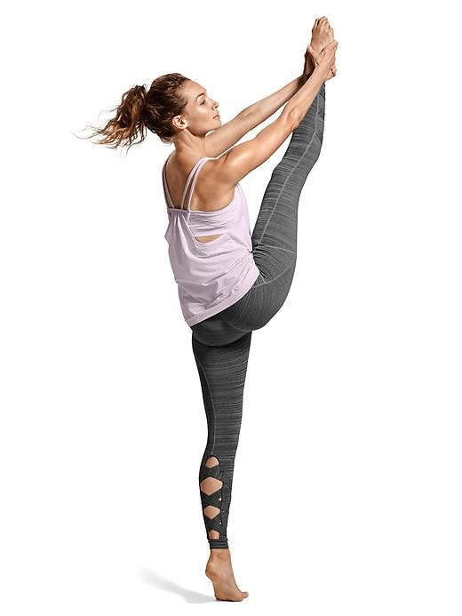 Looks We Love: Yoga/Studio | Dot Invigorate Tank $64 + High Rise Spacedye Cut Ou...