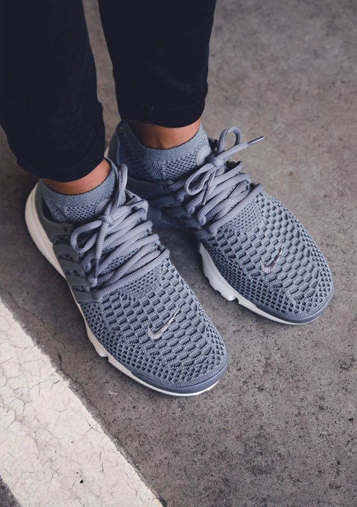 Nike w Air Presto Flyknit in #coolgrey