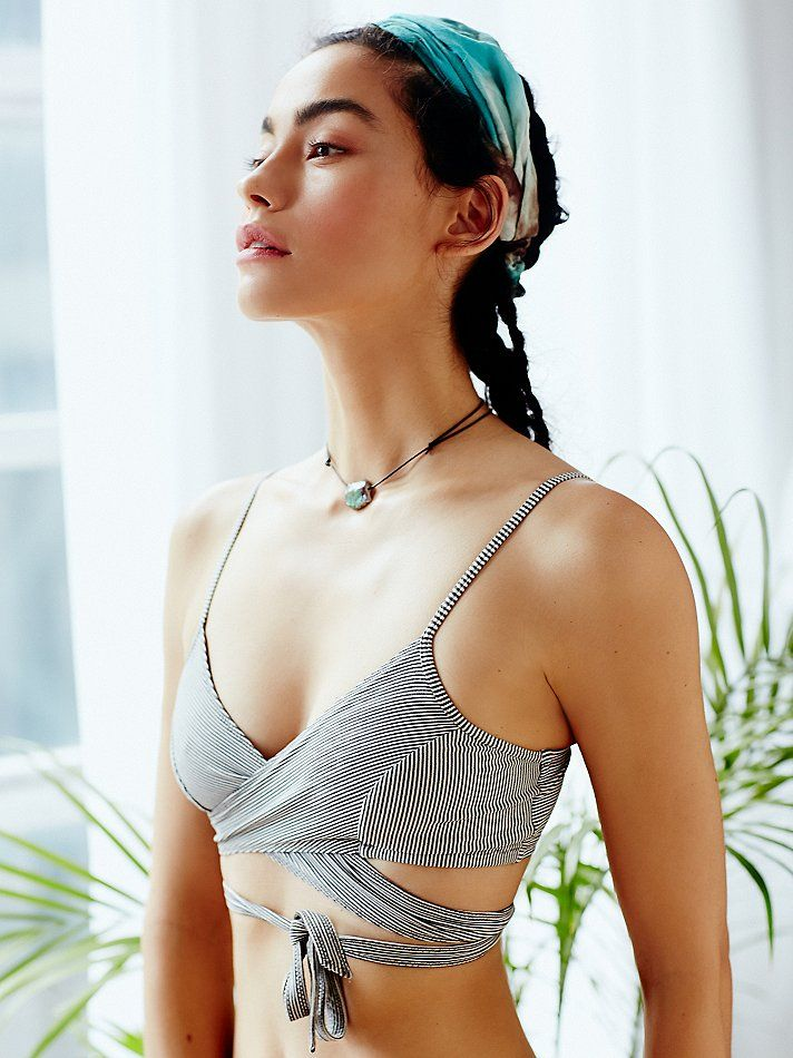 Parallel Universe Top | Fun and sporty activewear essential wrap top with Picot ...