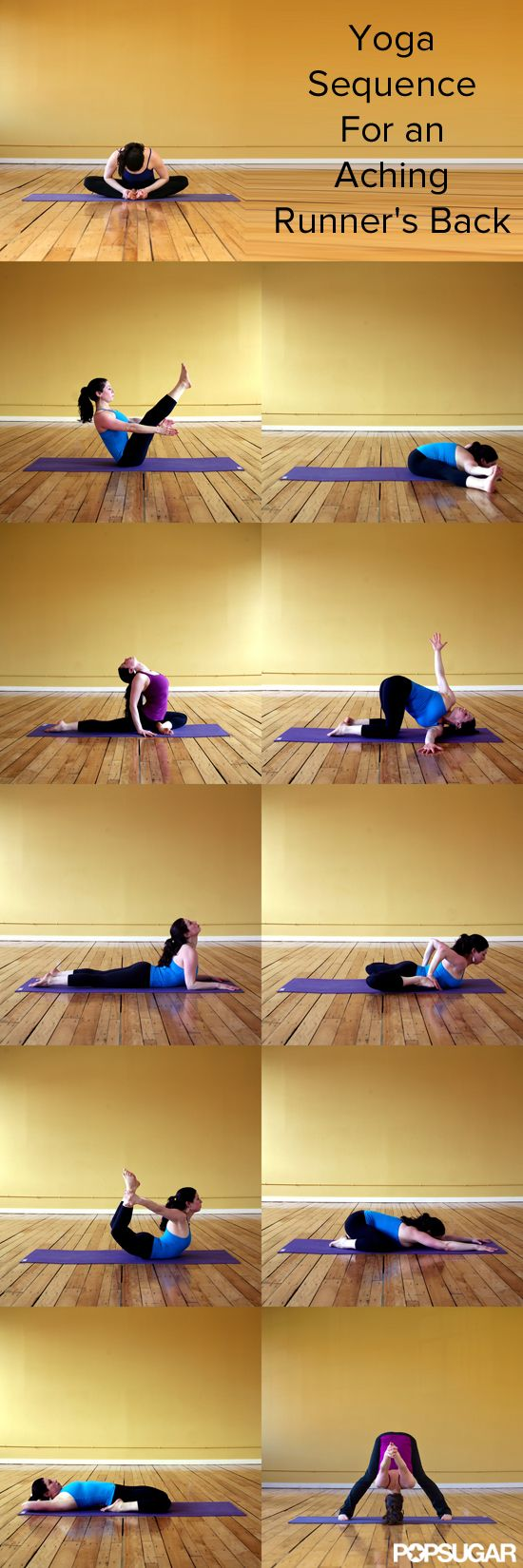 Yoga Sequence For an Aching Runner's Back - If you run, it's not unusual...