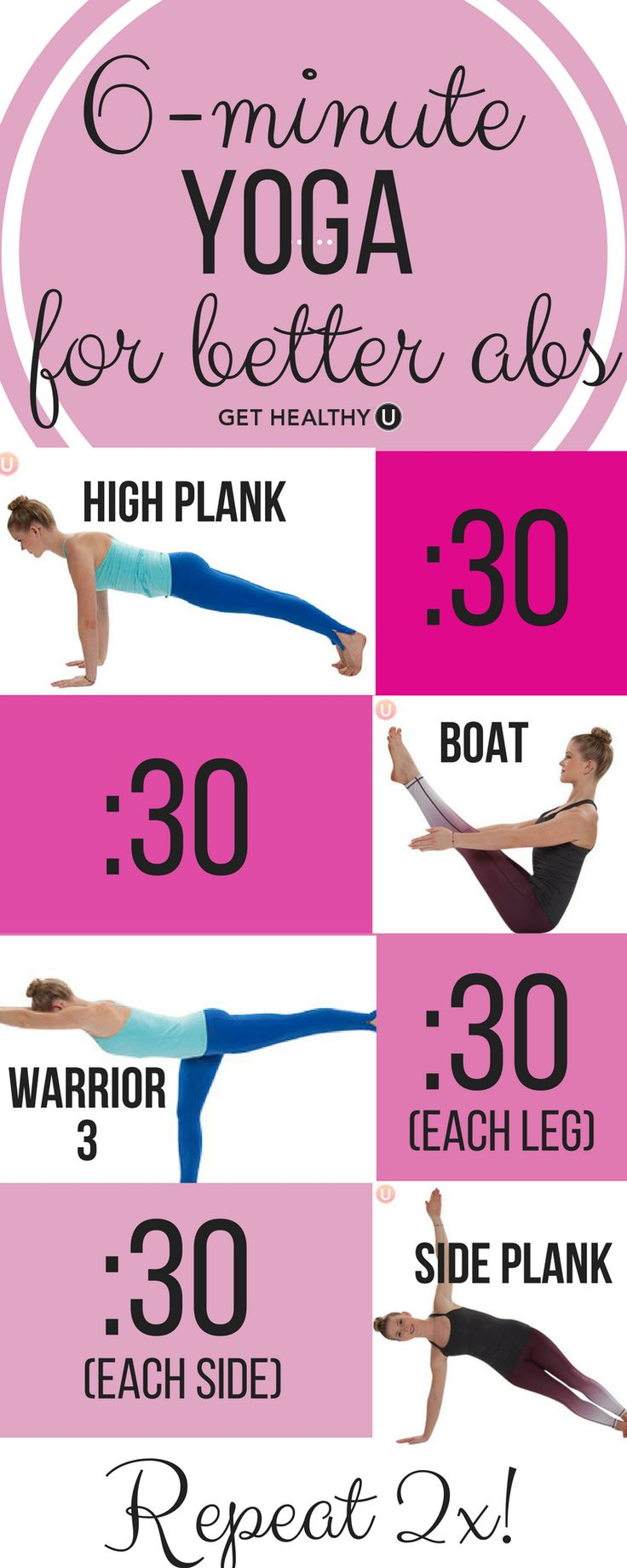 Did you know that yoga can also land you a strong core and enviable abs? We've...