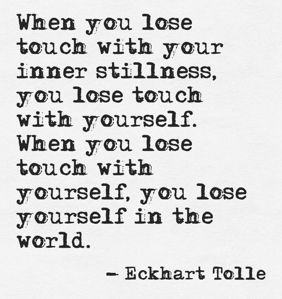 DownDog Inspirations: When you lose touch with your inner stillness, you lose to...