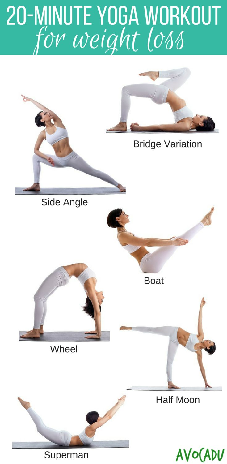 Yoga workout for weight loss! These yoga poses for beginners will help you lose ...