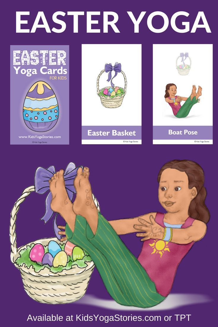 Easter Yoga Cards for Kids: Celebrate Easter through yoga poses for kids!  Prete...