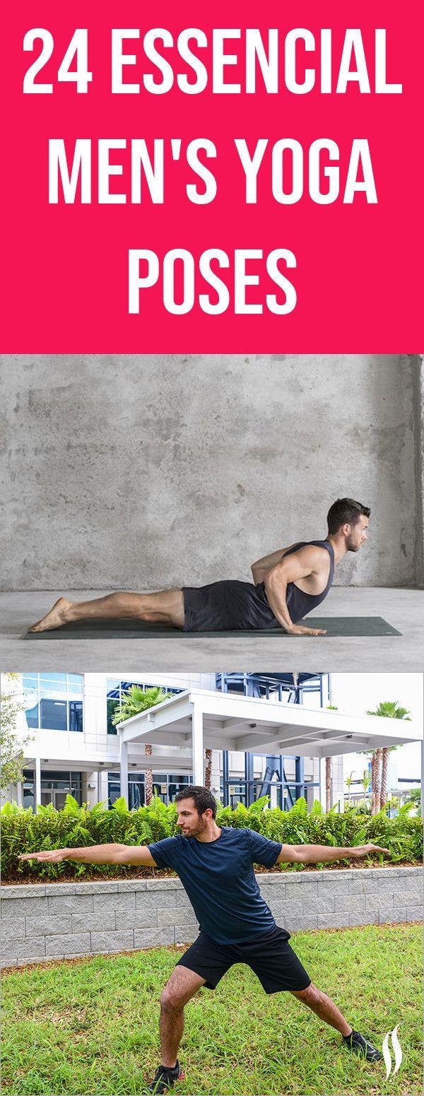 24 Best men's yoga poses.