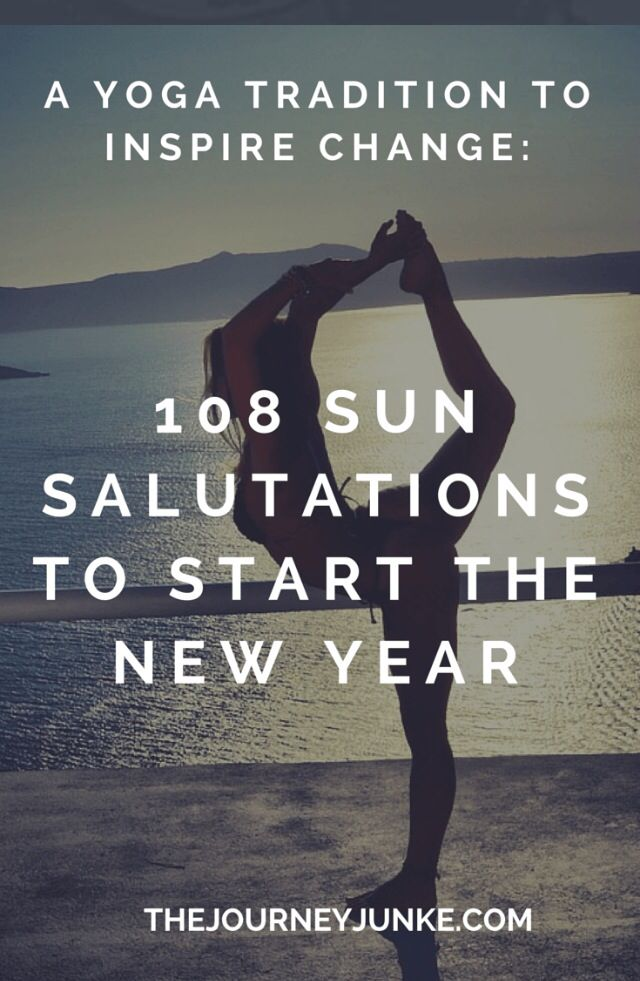 A great way to start the New Year! With sun salutations! #yoga #sunsalutations #...