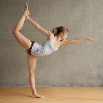 #Beautiful Woman doing Standing Bow Pose #YogaPoses #BikramYoga
