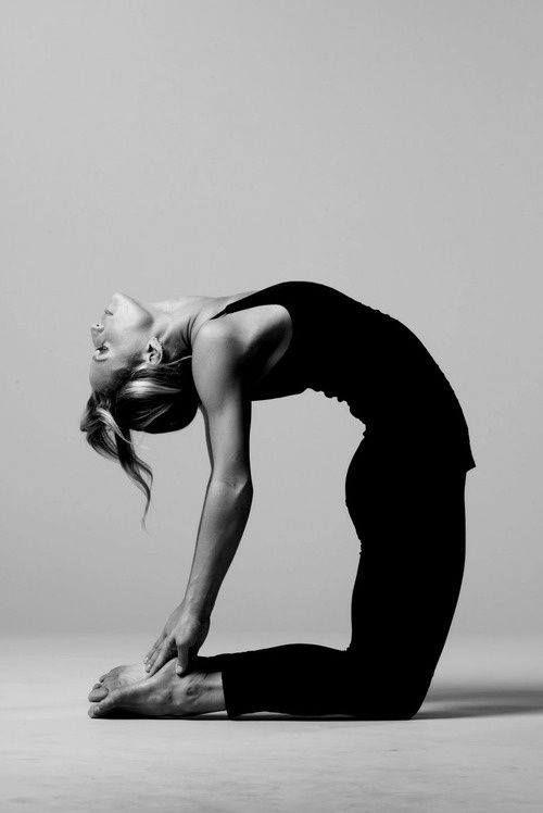 Camel posture. Yoga postures.