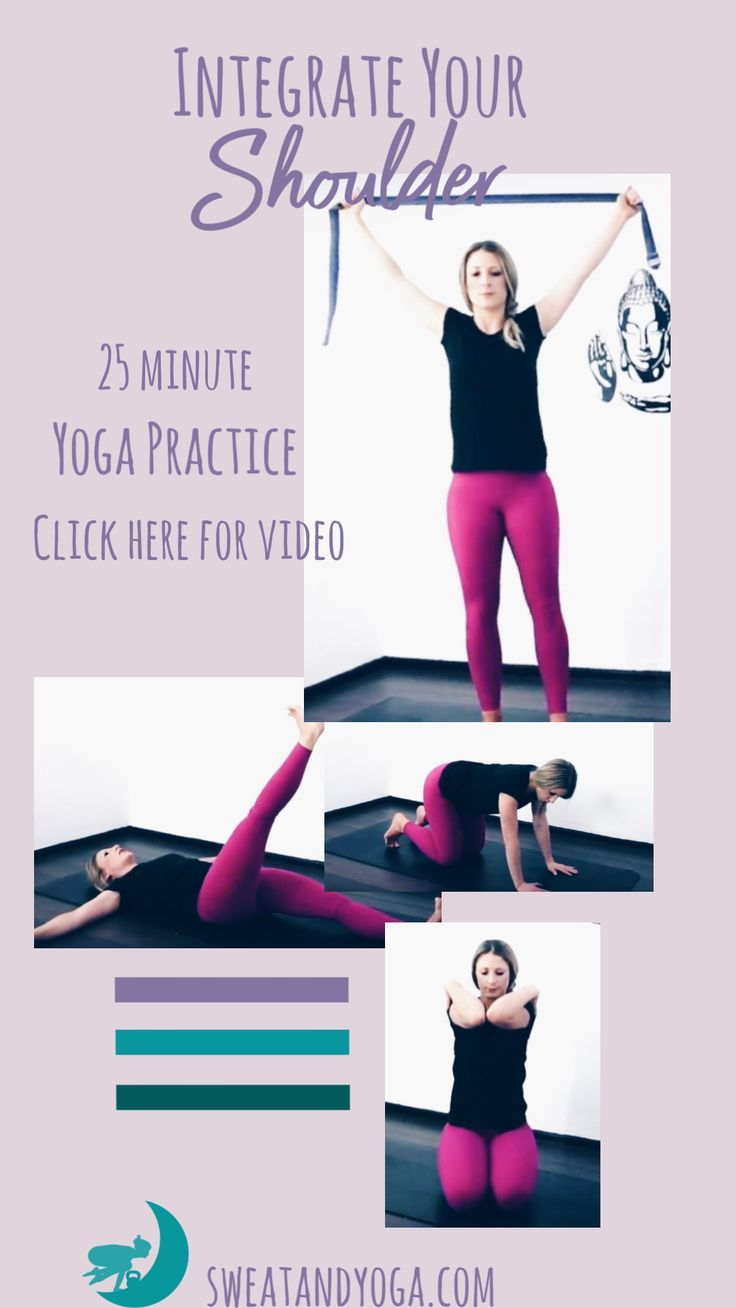 Click here to do a 25 minute yoga sequence to help integrate your shoulder and h...