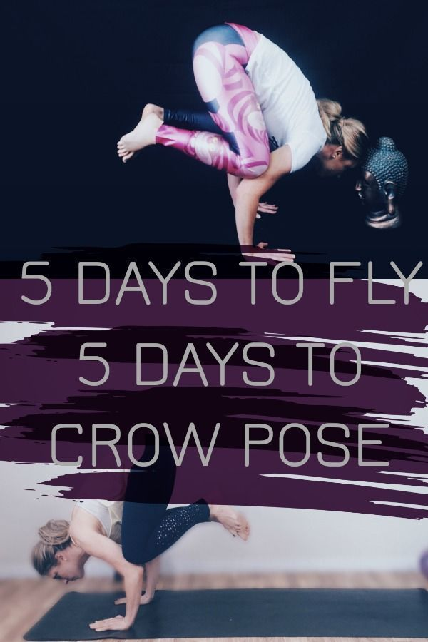 Get over your fear of falling on your face when you do crow pose! Free beginner ...