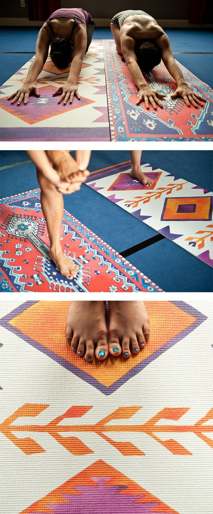Magic Carpet Yoga Mat. I've GOT to get one of these! Oh my gosh they're ...