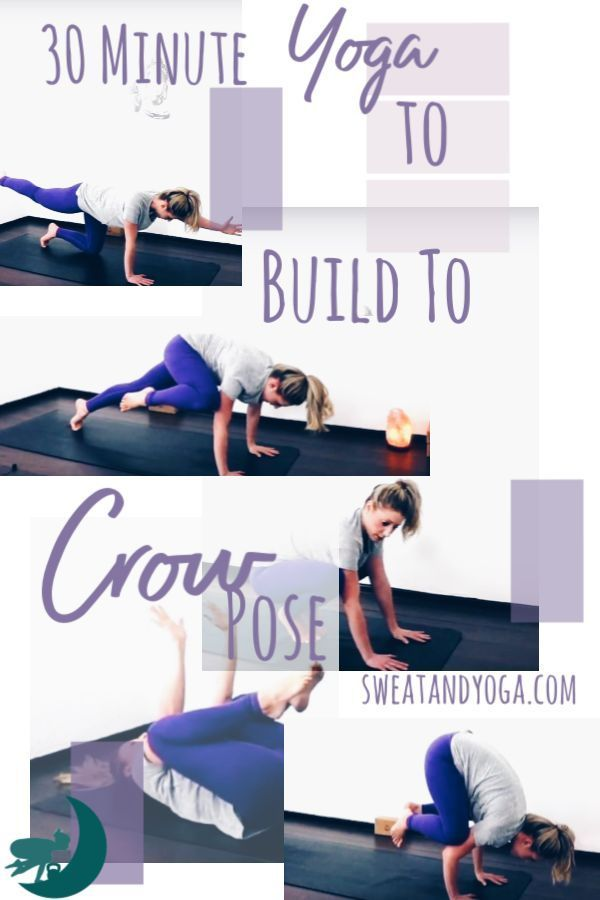Pin now and do this crow pose yoga video later! 30 minutes to open your hips and...