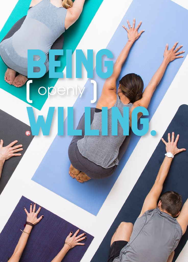 Practice being (openly) willing.