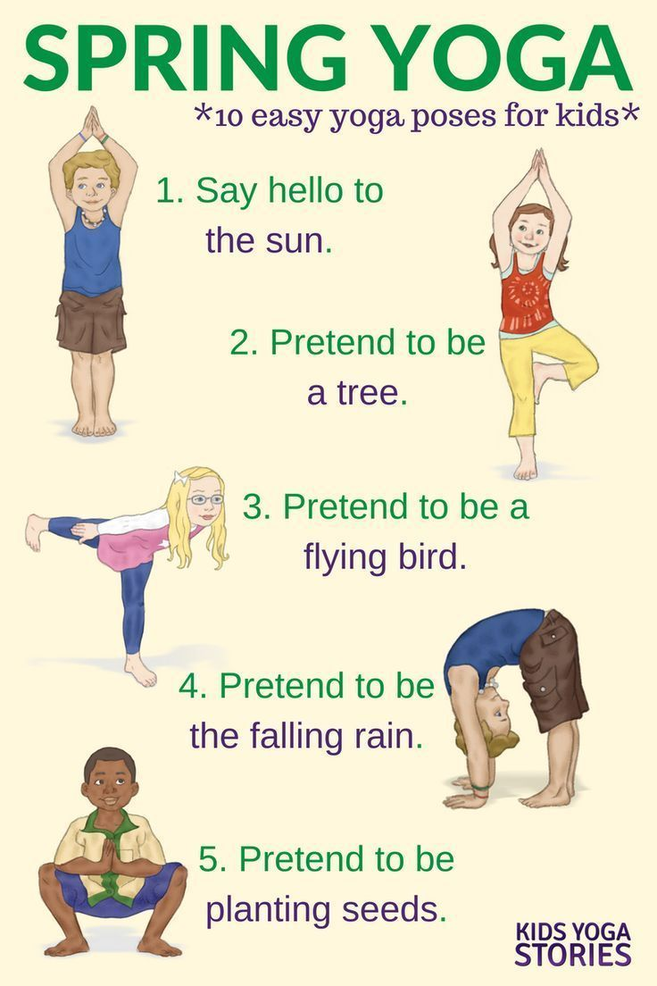 Yoga for Spring: celebrate spring with these ten easy yoga poses for kids | Kids...