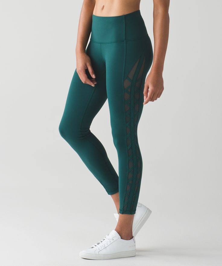 These high-rise, 7/8-length pants were designed to take you from Hatha to happy...
