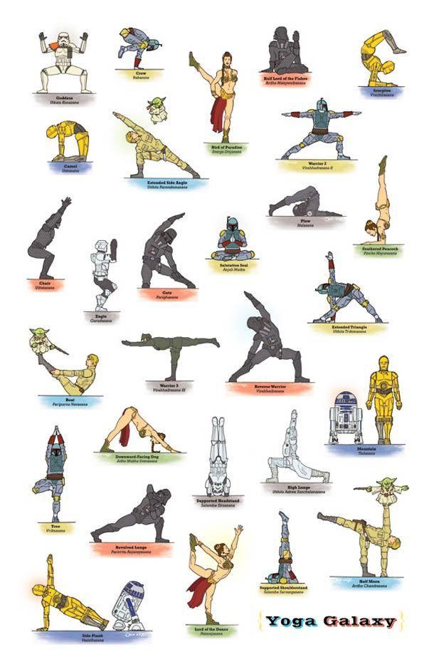 Darth Vader Does Yoga: 27 Awesome Star Wars Yoga Poses
