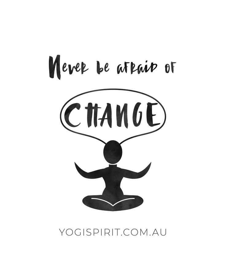 Change can be scary, but you know what's scarier? Allowing fear to stop you from...