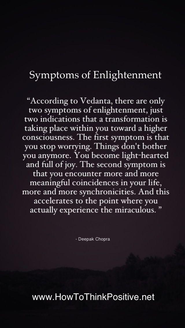 Symptoms of Enlightenment