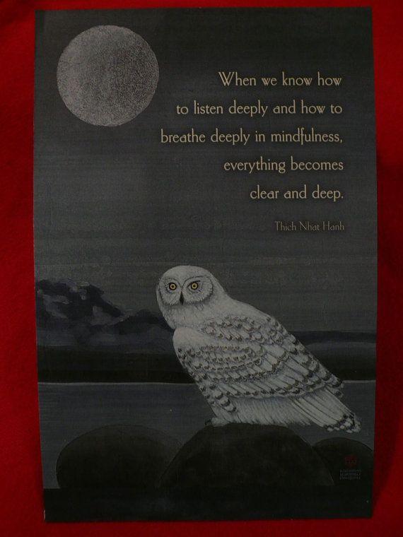 Thich Nhat Hanh Quote Zen Buddhist Monk Listen by Tasteliberty, $8.00