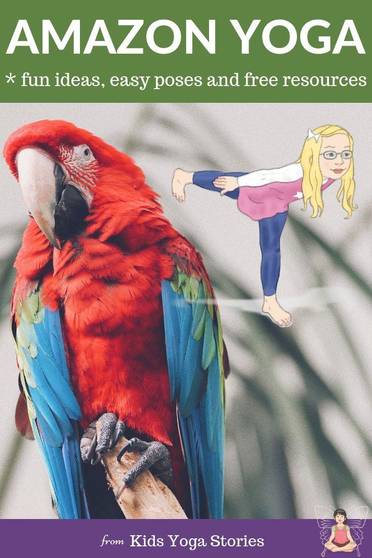 5 Amazon Rainforest Animals Yoga Poses for Kids