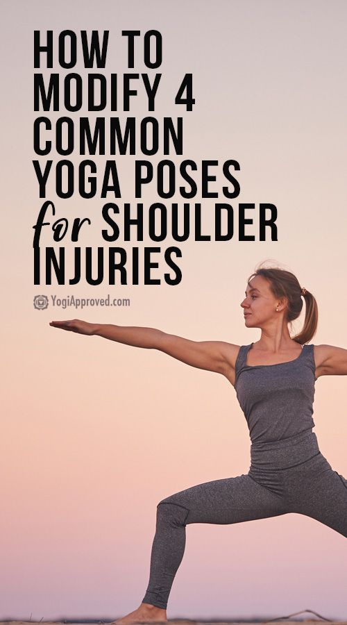 Shoulder Pain? Here's How to Modify 4 Common Yoga Poses for Shoulder Injuries