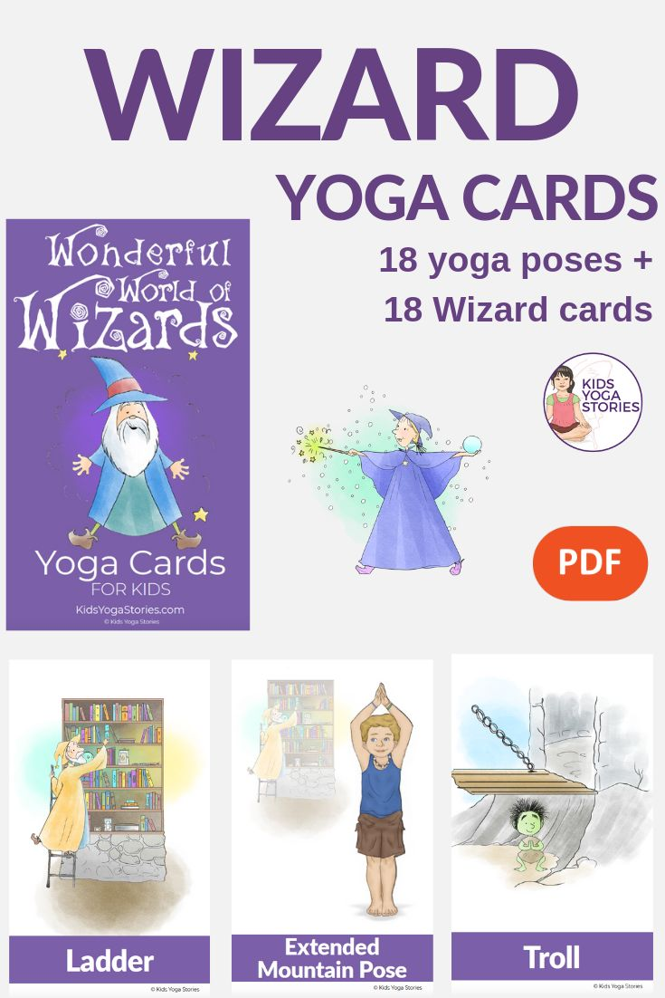 Wonderful World of Wizards Yoga Cards for Kids