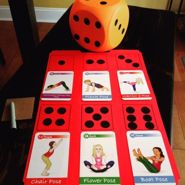 How to Play with Yoga Cards for Kids (Printable Poster)