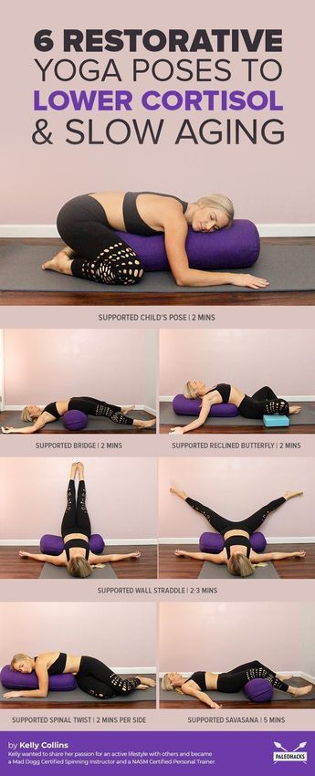 Melt Into This Restorative Yoga Routine To Lower Cortisol & Slow Aging