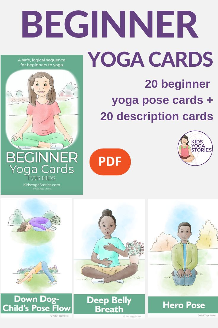 Where do you begin when you want to teach yoga to children? This colorful deck i...