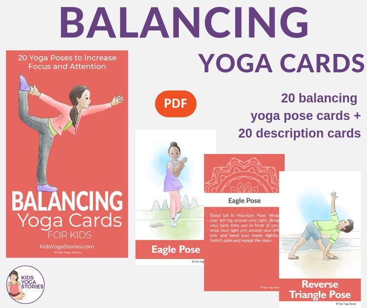 Balancing Yoga Cards for Kids Fun and fresh ways to promote focus through moveme...