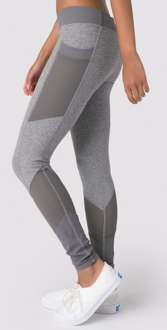 Breathable Mesh panels for airflow to help keep you cool as you bend, twist and...