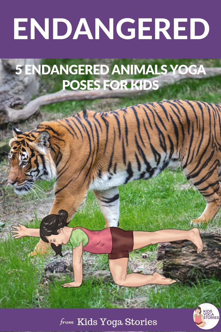 5 Endangered Animals Yoga Poses for Kids