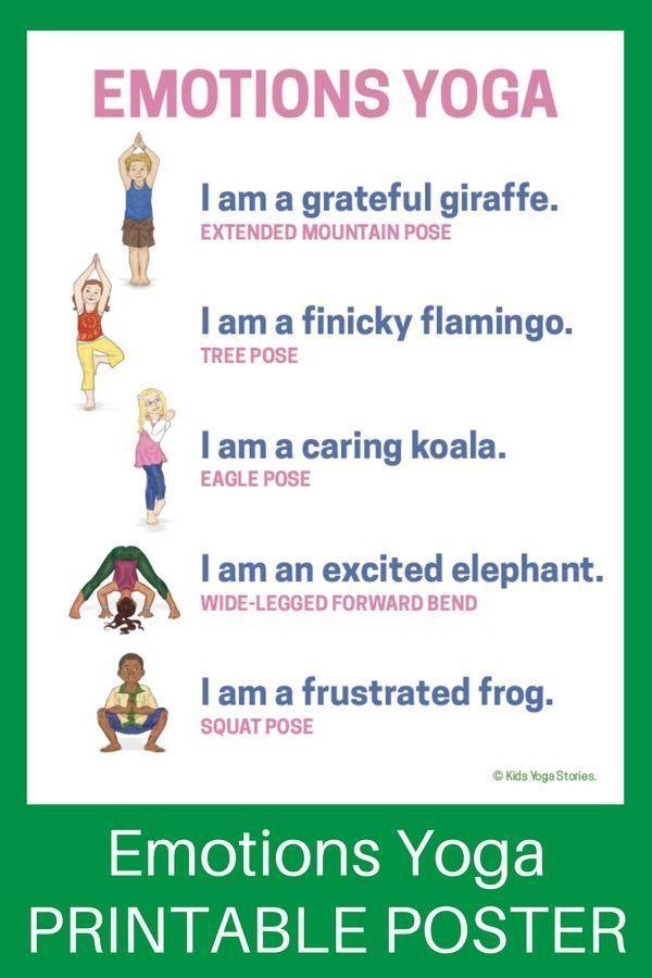 Emotions Yoga (Printable Poster