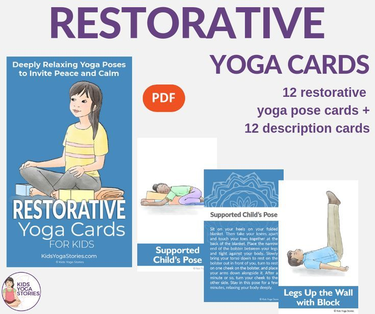 Yoga Poses : Restorative Yoga Cards for Kids - About Yoga
