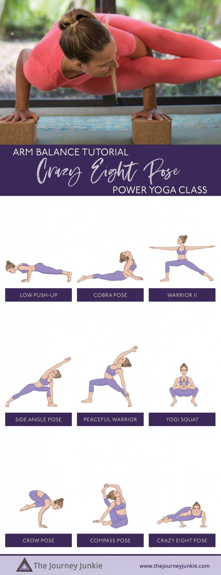 Eight Angle Pose Yoga Flow: Build Upper Body Strength + Open Your Hips