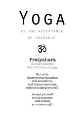 Yoga Pratyahara Mindfulness Print | Yoga Quotes and Wisdom