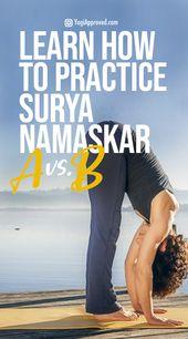 Learn Surya Namaskar A and Surya Namaskar B: Sun Salutation Flow Photo Tutorial
