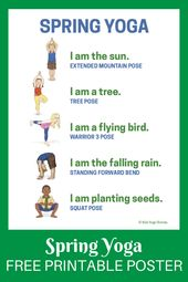 Yoga for Spring + Printable Poster - Kids Yoga Stories | Yoga stories for kids