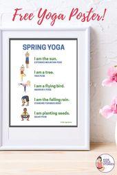 Yoga for Spring + Printable Poster - Kids Yoga Stories   Yoga stories for kids