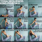 """Erica Tenggara on Instagram: """"YOGA SEQUENCE: KING PIGEON II NOTE: King Pigeon 2 is NOT a beginners practice, sequence is better suited for those who can already do:…"""""""