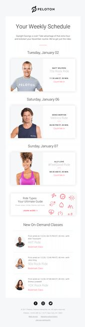 Weekly Schedule: Get After That Extra Hour | Really Good Emails