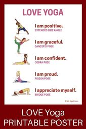 18 Heart-Opening Valentine's Day Yoga Poses for Kids (Printable Poster) - Kids Yoga Stories   Yoga s